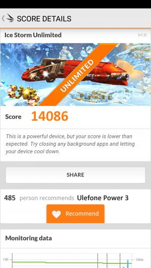 Ulefone Power 3 3DMark результаты